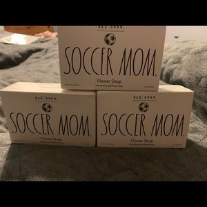Three NEW Rae Dunn Soap-Soccer Mom Floral